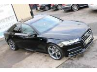 LATE 2015 AUDI A6 2.0 TDI ULTRA S LINE AUTO 188 BHP SALOON *BLACK EDITION SPEC* (WARRANTY & FINANCE)