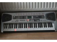 CASIO LK55 KEYLIGHTS UP 61KYES/TOUCHRESPONSE/MIDI/MICIN/POWERADAP