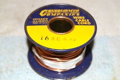 CONSOLIDATED WIRE CO NEW NOS 16BC BARE COPPER BUS BUSS AWG 16 SPOOL 4 oz (1/4lb)
