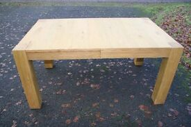 Oak dining table (extends) like new