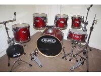 """Mapex M Series Cherry Red Lacquered 6 Piece FULL Drum Kit (22"""" Bass) + Paiste 302 Cymbal Set"""
