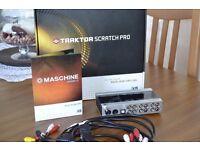 Traktor Scratch Pro 2 & Audio 8 DJ Soundcard with Timecode Vinyls & Cd's