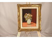 original oil painting - still life of flowers Chretienne Corrie