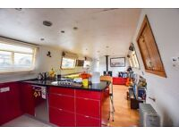 60ft Wide Beam Houseboat to rent | On residential mooring | £1,700 pcm