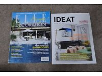 Elle and IDEAT Decoration Magazines Lot