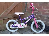 "Girls' bike 14"" wheels"