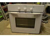 Indesit white single built in Electric oven and grill