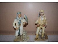 "Pair of old figures approximately 12 "" tall"