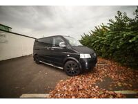 VW T5 Caravelle SE 2.5TDI, 130bhp 2006, manual 6 speed, 7 seater, black colour,  7 inch dvd/cd/radio