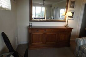 SIDEBOARD SOLID CHERRYWOOD 6ft SIDE BOARD EXCELLENT ORDER £100 for quick sale cost £ 1250