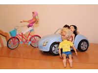 Barbir beetl car and Barbie bike
