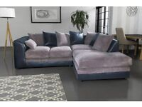 Comfy BRAND NEW brown and beige or black and grey sofa. foam filled cushions. delivery available
