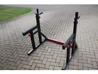 Bodymax / body max CF415 squat rack, dip station with safety spotters / catchers - weights, gym