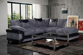 **SAME DAY DELIVERY** Dino 3+2 JUMBO CORD Corner Sofa Suite - AVAILABLE IN DIFFERENT COLOURS