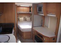 Ace Award Firestar 2008 4 Berth Fixed Bed Caravan + Motor Movers + Full Awning
