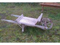 Old wooden wheelbarrow