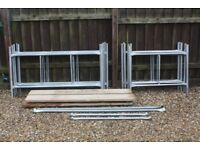Galvanised Steel Scaffolding Tower 6' x 4' x 21'