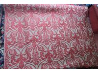 ROLL OF RED AND GOLD HEAVY QUALITY UPHOLSTERY MATERIAL 1.38 M X 6.50 M