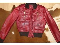 Genuine Gucci real leather ladies jacket size S-M (8-10 UK) RRP £1800
