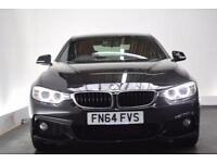 BMW 4 SERIES 2.0 420D M SPORT [NAV/LEATHER] 2d AUTO 181 BHP (black) 2014