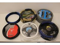 Job Lot of Steering Wheel Covers - 22 Covers with Different Designs
