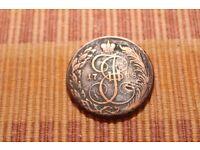 RUSSIAN EMPIRE 5 Kopeks 1788 КM Large Copper Coin Catherine II