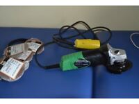 "110 volt Angle Grinder 4"" Hitachi never been used with 9 pkts of ginding disks."