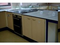 School kitchen units, sinks and electric ovens are for sale