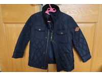 Joules navy quilted coat age 5