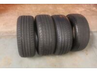 4 x 205/50/16 tyres with 5/6mm+ tread bargain clearance!