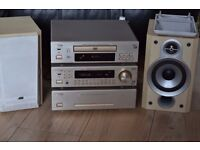 DENON CD/DVD/RADIO WITH JVC SPEAKERS CAN BE SEEN WORKING