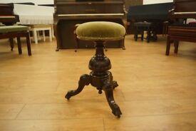 Antique Victorian swivel piano stool