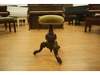 Antique Victorian swivel piano stool