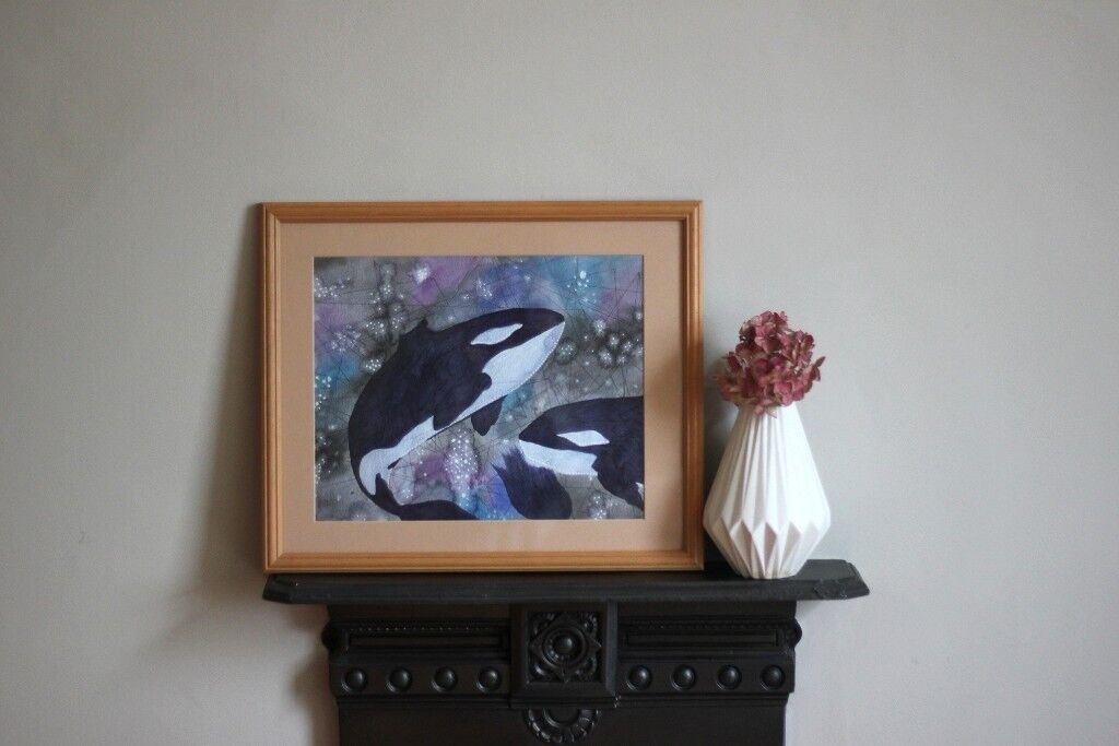 Whale Painting for Nursery/Kids Room! Original Artwork - Artist Painting, Illustration, Perfect Gift