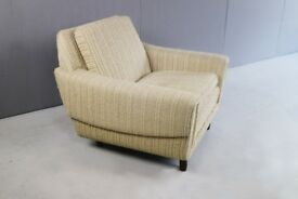 1970's Danish armchair armchair with original oatmeal fabric