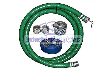 2 Green Pvc Fcam X Mp Suction Hose Trash Comp. Kit W100 Discharge Hose Fs