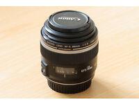 Canon EF-S 60mm Macro F/2.8 1:2.8 USM Prime Lens