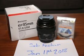CANON 85mm f/1.8 USM LENS - GREAT CONDITION - BOXED