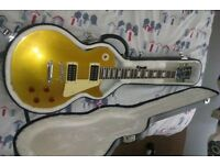 CHINESE GIBSON LES PAUL GOLD TOP SLASH SIGNATURE ELECTRIC GUITAR WITH HARDCASE