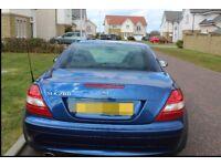 Mercedes SLK 280 2007 in dark metallic blue 07 plate