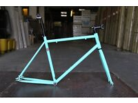 NEW IN!! !!! Steel Frame Single speed road bike fixed gear racing fixie bicycle FFVCD