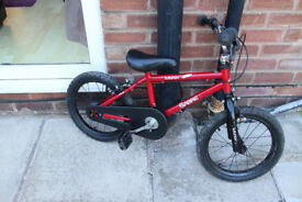 16 inch Kids Bike, Red Bicycle, will suit 4-7 year olds
