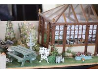 Dolls House Garden Extension With Conservatory