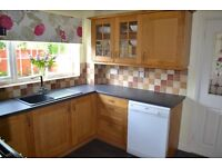 Kitchen Cupboards, Work Surfaces and Sink including Tap