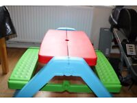 Brand New Condition - Red - Blue - Green - Mookie Table - Folds For Easy Transportation