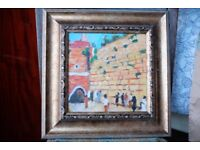Jewish Impressionist painting by Lev 'The Wailing Wall'