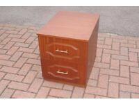 BEDSIDE CABINETS x 2 Matching - solid, good condition £20 for both - glass top