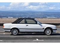 BAUR conversion BMW Convertible, 318i, 1990, White with black roof. Automatic tranmission. MOT 04/18