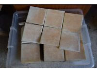 100mm/ 4inch square wall tiles just over 2 sq mtrs beige colour.