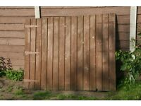 Timber Driveway Gates 6ft wide x 4ft 8in high each, Heavy thick timber. ONO